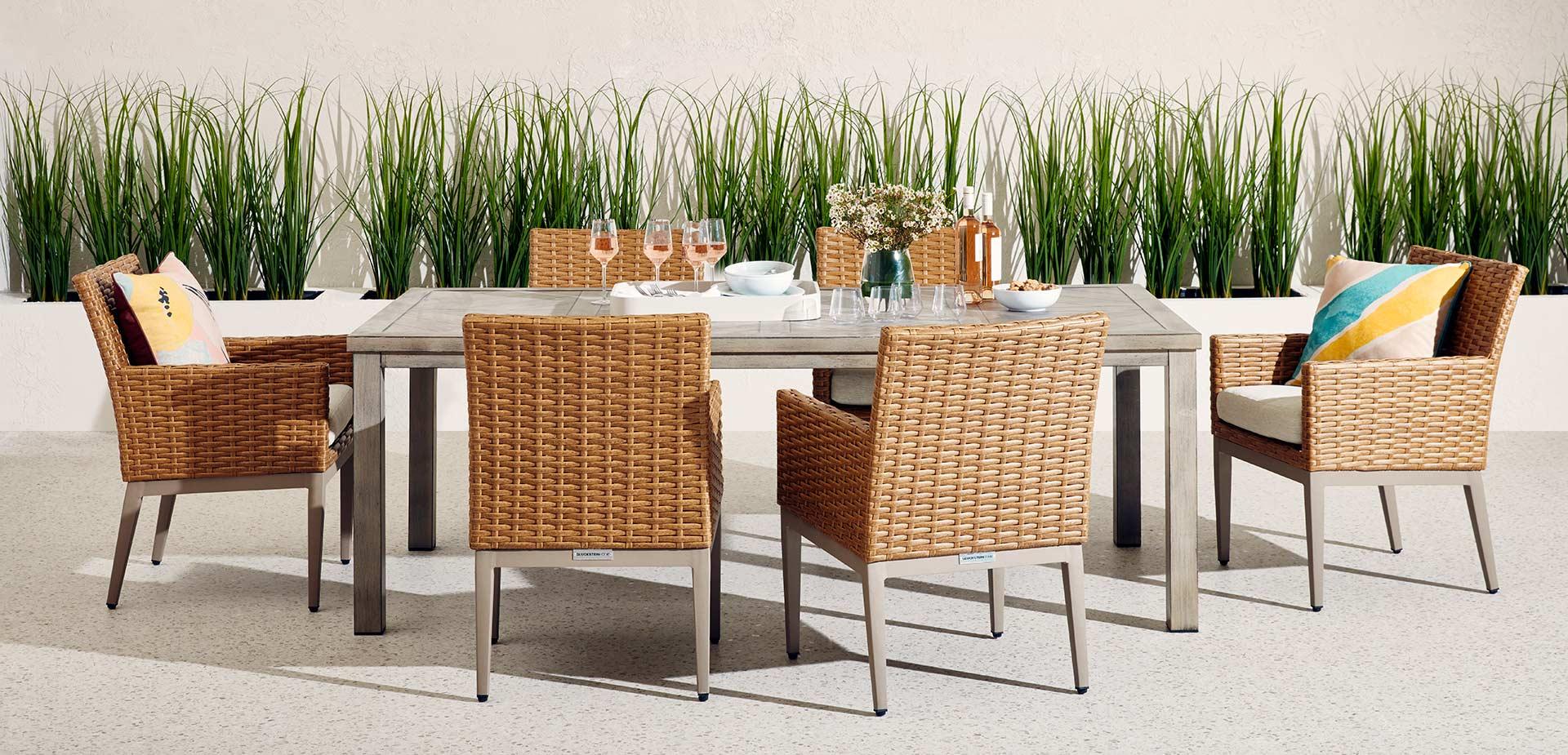 GlucksteinHome | Sedona Dining Set in Natural