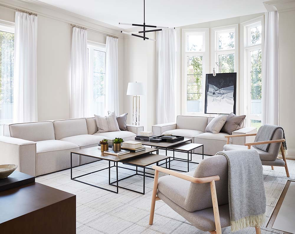 GlucksteinHome GlucksteinElements | Monochromatic living room
