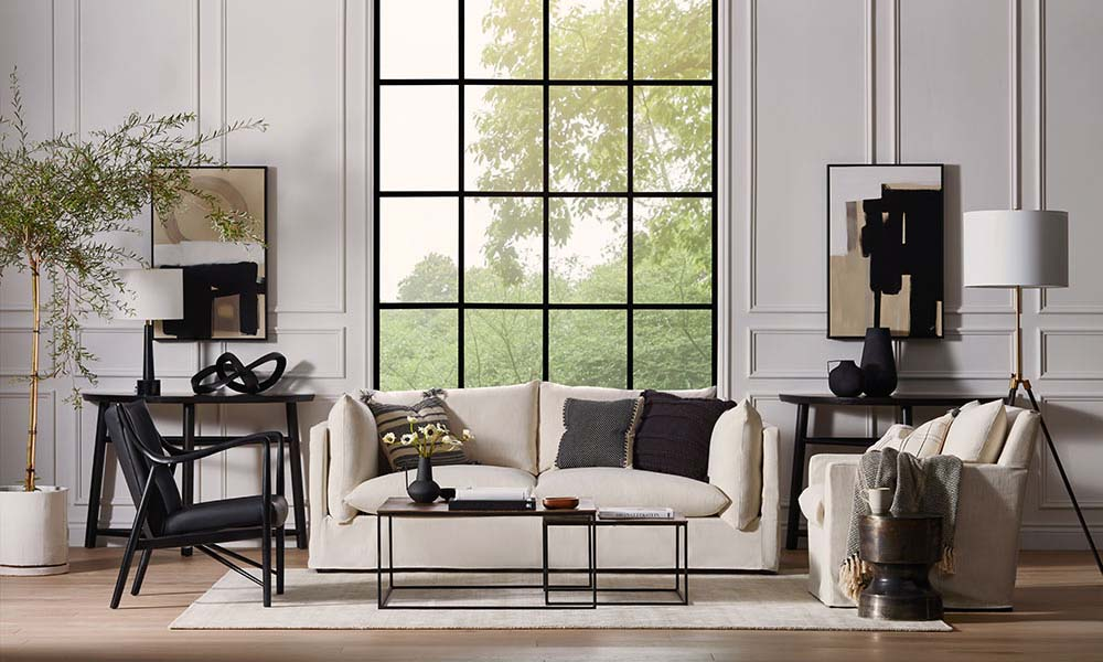 4 Steps to Modern, Relaxed Living Room Style